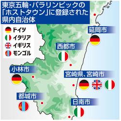 ホストタウン、宮崎県と6市始動 独伊英モンゴルと五輪交流
