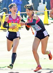 女子・矢吹は25位、団結力で笑顔の快走 全国中学駅伝