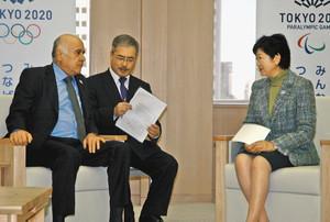 東京五輪 パレスチナ五輪委員会会長 小池知事を表敬訪問