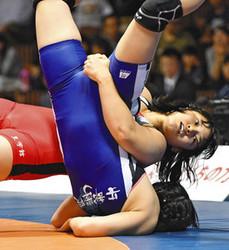 土性沙羅、貫禄の6連覇 レスリング全日本選手権