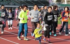 「おかやまマラソン」を疑似体験 10分の1の距離を572人走る