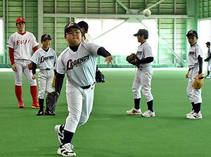 富士大が野球教室 1月から小中学生に本格指導