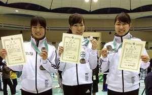 女子フルーレで秋田市役所が準V フェンシング全日本選手権