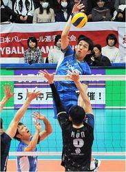 東レ、粘って劇的勝利 バレーボール全日本選手権