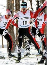 渡部暁、逆転V 全日本スキー複合