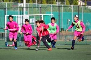 「さくらJAPAN」3選手がホッケー教室 篠山