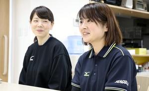 バレーボール 岡山を支える若手女性スタッフ 選手に人気の食事