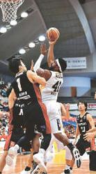 B1仙台 連敗止める 大阪を66-56で下す