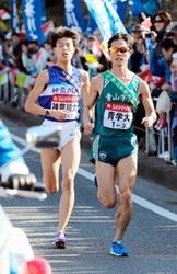 青学大・秋山、不振乗り越え快走 箱根駅伝往路