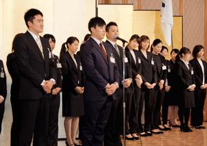 松山で350人交流 愛媛国体活躍へ決意「新春の集い」
