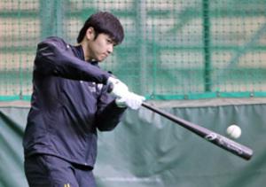 世界一へ、連覇へ始動 日ハム大谷選手が練習始動