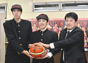 「高校生選手」が入団会見 バスケB2岩手特別指定契約