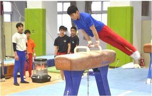 体操合宿で国際交流 磐田、日韓の小中高生が参加