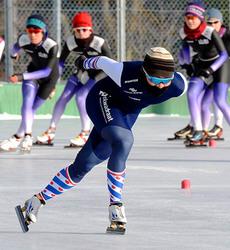 横山碧生、一時帰国 スピードスケート強豪国で刺激