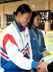 白井「2種目で五輪に」 競泳兵庫県短水路選手権