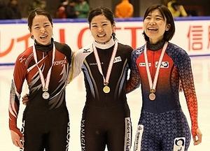 スケート Sトラック全日本 菊池萌水、初の総合優勝