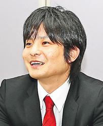 B1残留へ闘志新た グラウジーズ黒田社長本社来社