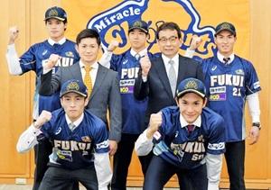 野球BCリーグ 福井の新戦力5選手、優勝へ奮闘誓う
