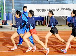 京都チーム、本番へ最終合宿 全国女子駅伝