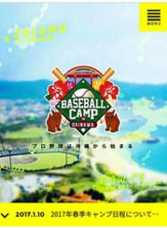 プロ野球 沖縄キャンプ 見学に便利なサイト開設