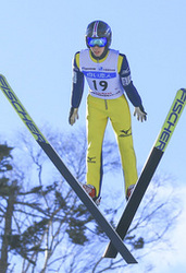 二階堂ジャンプ連覇 全道中学スキー