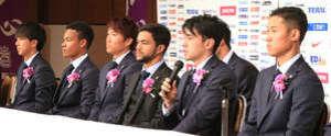 J1広島、新加入6選手が入団会見