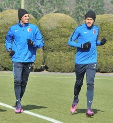 レアンドロ、ペドロジュニオールがJ1鹿島合流 練習に汗