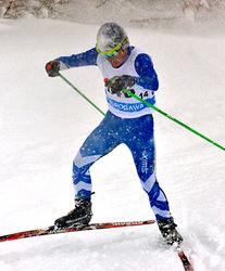 真室川・藤田、転んだって初優勝 山形県中学スキー