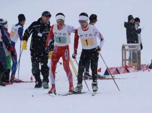 合川、リレーでアベックV 秋田県中学スキー
