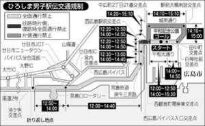 駅伝 都道府県対抗男子で22日正午から交通規制
