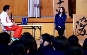 体操 元日本代表が講話 国分西小