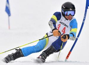 男子大回転は早大・中平 青森県スキー選手権