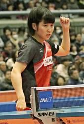 速く力強い攻撃さえる、平野美宇 卓球全日本選手権