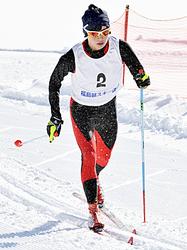 距離クラシカル少年女子・山内が連覇 福島県総体スキー