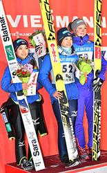 伊藤選手「蔵王は幸運の場所」 W杯ジャンプ女子・日本人1、2位