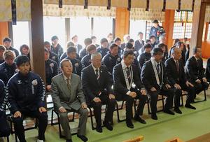 J2長崎、諏訪神社で必勝祈願
