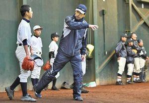 オリックス 高知市で中学球児に野球教室