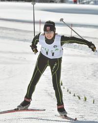 スキー 中部日本大会 クロカンの中世古が優勝