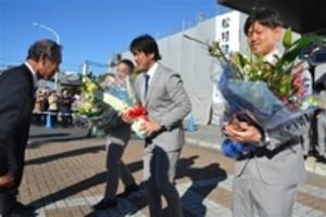 J1磐田 上位目指す 地元激励会で決意
