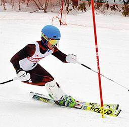 男子回転は吾妻・阿部が7位入賞 東北中学校スキー