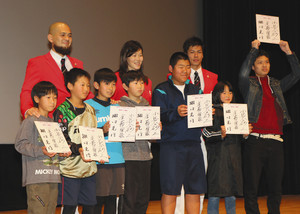 瑞穂で中学生らに体験談 金藤さんらリオ五輪3選手