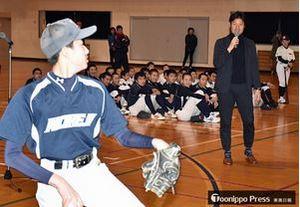 元巨人投手・高橋尚成さん野球教室 野辺地