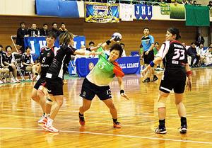 北國銀・横嶋彩9得点 小杉でハンド女子日本リーグ