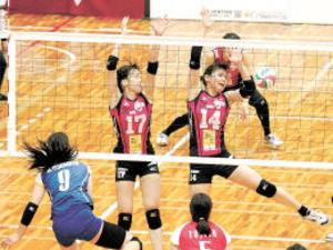 仙台ベルフィーユ黒星 バレー・チャレンジリーグ