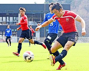 サッカー・いわきFC田村監督、初指揮で勝利