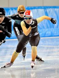 冬季国体 Sスケート成年女子1500、愛媛・池田4位