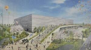 福岡市総合体育館、起工 アリーナ西日本最大級
