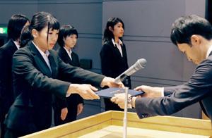 松山大部活動表彰式 女子駅伝部など、表彰