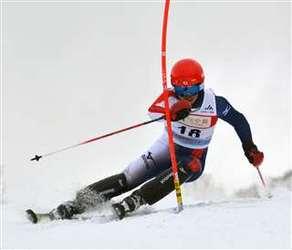 男子回転、田口(生保内)5位 全国中学スキー