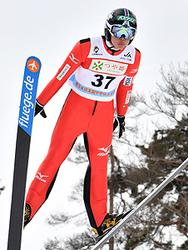 松尾・小林がジャンプ4位 全中スキー